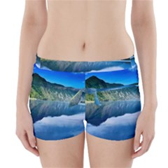Mountain Water Landscape Nature Boyleg Bikini Wrap Bottoms by Celenk