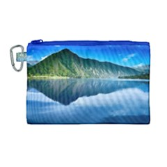 Mountain Water Landscape Nature Canvas Cosmetic Bag (large) by Celenk