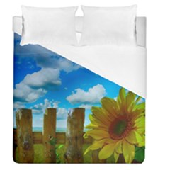 Sunflower Summer Sunny Nature Duvet Cover (queen Size) by Celenk