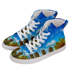 Sunflower Summer Sunny Nature Men s Hi Top Skate Sneakers by Celenk