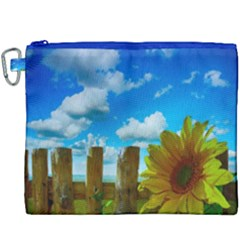 Sunflower Summer Sunny Nature Canvas Cosmetic Bag (xxxl) by Celenk