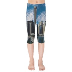 Skyscraper City Architecture Urban Kids  Capri Leggings  by Celenk