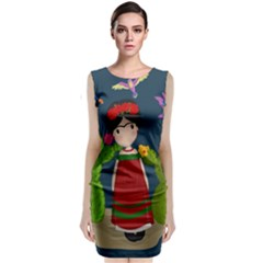 Frida Kahlo Doll Classic Sleeveless Midi Dress by Valentinaart