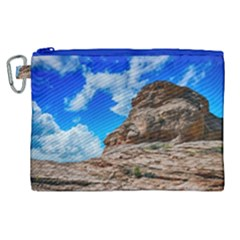Mountain Canyon Landscape Nature Canvas Cosmetic Bag (xl) by Celenk