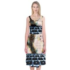 Ransomware Cyber Crime Security Midi Sleeveless Dress