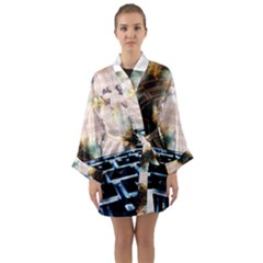 Ransomware Cyber Crime Security Long Sleeve Kimono Robe by Celenk