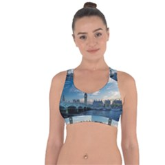 London Westminster Landmark England Cross String Back Sports Bra by Celenk