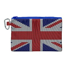 Union Jack Flag British Flag Canvas Cosmetic Bag (large) by Celenk