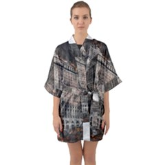 World War Armageddon Destruction Quarter Sleeve Kimono Robe by Celenk