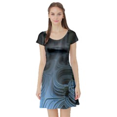 Fractal Design Short Sleeve Skater Dress