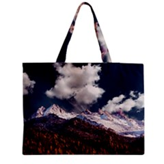 Mountain Sky Landscape Hill Rock Medium Tote Bag by Celenk
