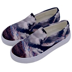 Mountain Sky Landscape Hill Rock Kids  Canvas Slip Ons by Celenk