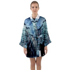 Storm Weather Thunderstorm Nature Long Sleeve Kimono Robe