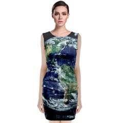 Earth Internet Globalisation Classic Sleeveless Midi Dress by Celenk