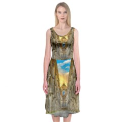 Abbey Ruin Architecture Medieval Midi Sleeveless Dress