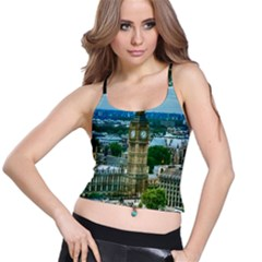 London England City Landmark Spaghetti Strap Bra Top