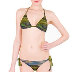 Coastline Waterfall Landscape Bikini Set