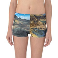 Nature Landscape Mountains Outdoor Reversible Boyleg Bikini Bottoms