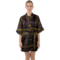 Hot As Candles And Fireworks In Warm Flames Quarter Sleeve Kimono Robe by pepitasart