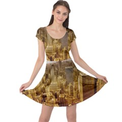 New York Empire State Building Cap Sleeve Dress
