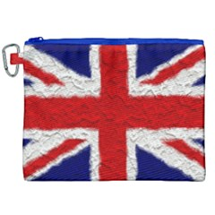 Union Jack Flag National Country Canvas Cosmetic Bag (xxl) by Celenk