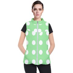 Lime Dot Women s Puffer Vest by snowwhitegirl