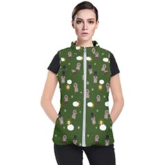 Groundhog Day Pattern Women s Puffer Vest by Valentinaart