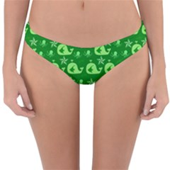 Green Sea Whales Reversible Hipster Bikini Bottoms by snowwhitegirl