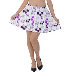 Purple Cherries Velvet Skater Skirt by snowwhitegirl