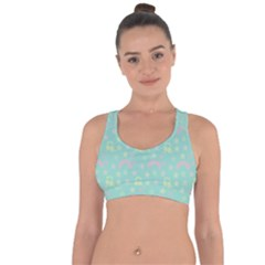 Music Stars Seafoam Cross String Back Sports Bra by snowwhitegirl