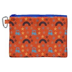 Music Stars Red Canvas Cosmetic Bag (xl) by snowwhitegirl