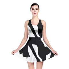 Pole Dancer Silhouette Reversible Skater Dress