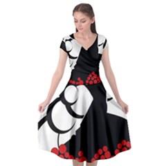Flamenco Dancer Cap Sleeve Wrap Front Dress by AnjaniArt