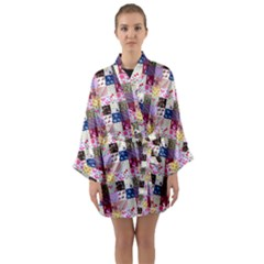 Quilt Of My Patterns Small Long Sleeve Kimono Robe by snowwhitegirl