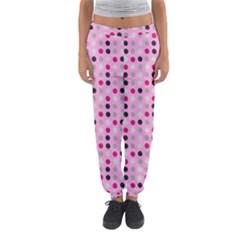 Grey Magenta Eggs On Pink Women s Jogger Sweatpants by snowwhitegirl