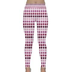 Pink Red Dots Classic Yoga Leggings by snowwhitegirl