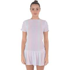 Albino Pinks Drop Hem Mini Chiffon Dress by snowwhitegirl