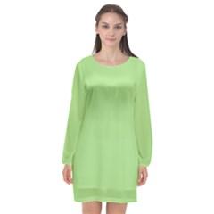 Pistachio Taste Long Sleeve Chiffon Shift Dress  by snowwhitegirl
