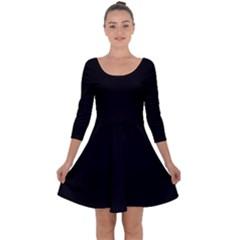 Quoth The Raven Quarter Sleeve Skater Dress by snowwhitegirl