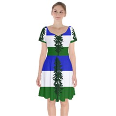 Flag Of Cascadia Short Sleeve Bardot Dress by abbeyz71