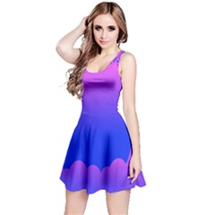 Abstract Bright Color Reversible Sleeveless Dress