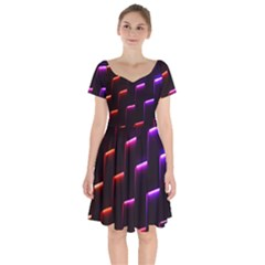 Mode Background Abstract Texture Short Sleeve Bardot Dress by Nexatart
