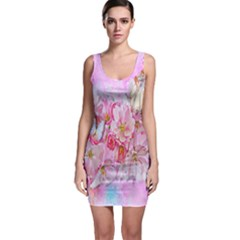 Nice Nature Flowers Plant Ornament Bodycon Dress