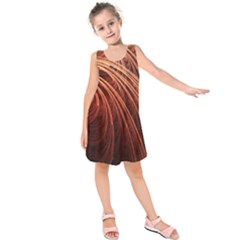 Abstract Fractal Digital Art Kids  Sleeveless Dress
