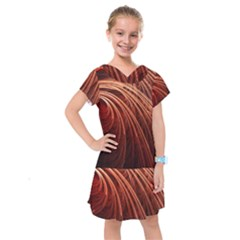 Abstract Fractal Digital Art Kids  Drop Waist Dress by Nexatart