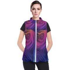 Abstract Pattern Art Wallpaper Women s Puffer Vest by Nexatart