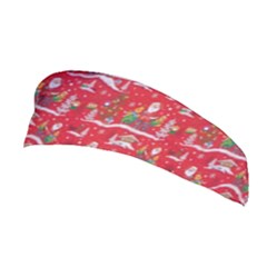 Red Background Christmas Stretchable Headband by Nexatart