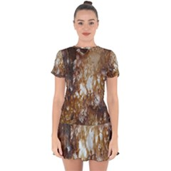 Rusty Texture Pattern Daniel Drop Hem Mini Chiffon Dress by Nexatart