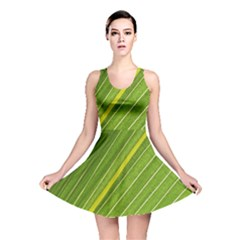 Leaf Plant Nature Pattern Reversible Skater Dress