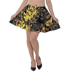 The Background Wallpaper Gold Velvet Skater Skirt